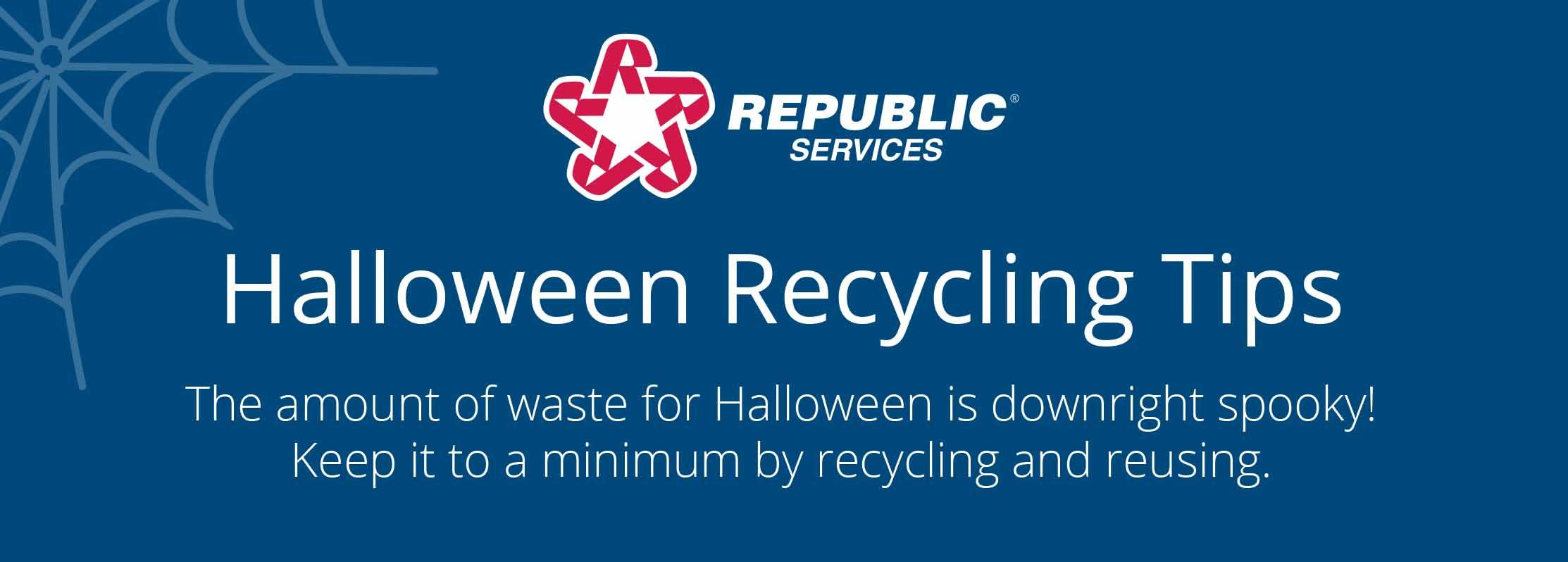 Halloween Recycling Tips art